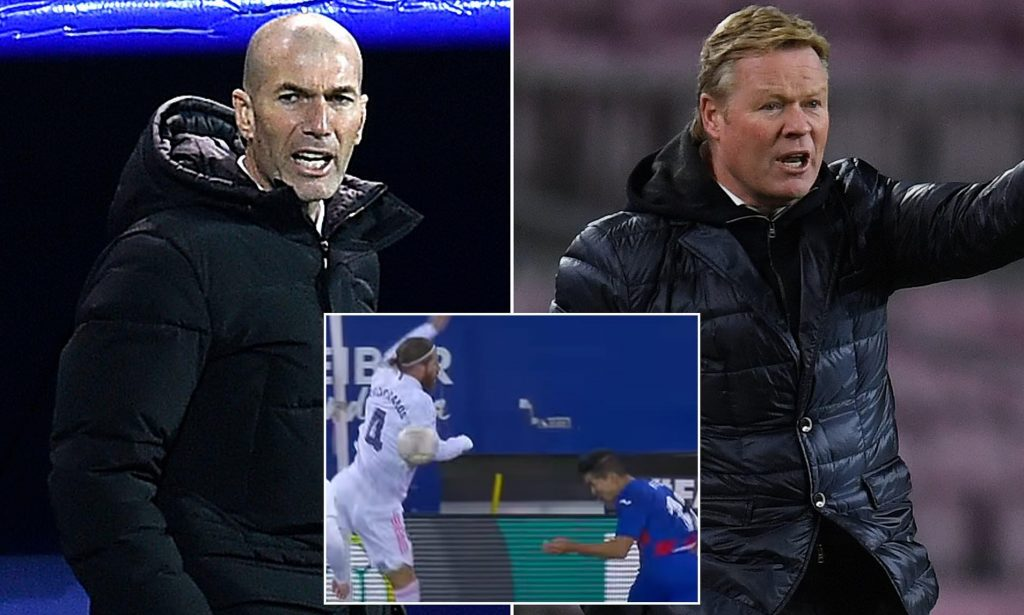 zidane-annoyed-koeman-comments